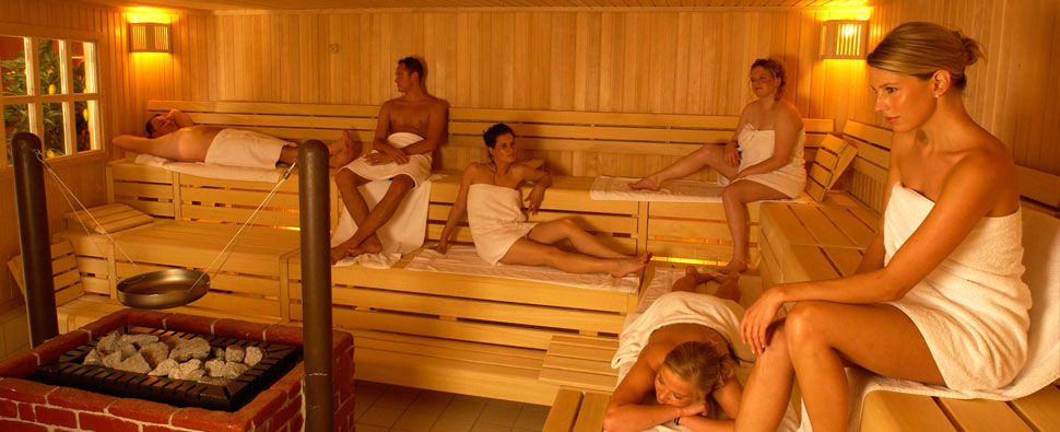 Sauna with cozy chill out area